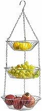 XT 3-Tier Wire Fruit Hanging Basket,Kitchen