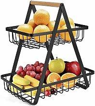 XT Fruit Basket,vegetable Rack,2 Tier Fruit Bowl,
