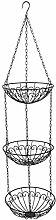XT Hanging Fruit Basket 3 Tiers Metal Vegetable