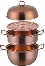 XTR Steamer Pot Stainless Steel Three layer Thick