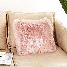 XUDAKJ Pillowcase, Artificial Wool Cushion Cover,