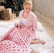 XUE-BAI Handmade Giant Soft Thick Chunky Knitted