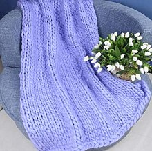 XUE-BAI Knitted Throw Blanket Polyester Fibre