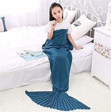 XUE-BAI Mermaid Tail Blanket - Mermaid Blanket for