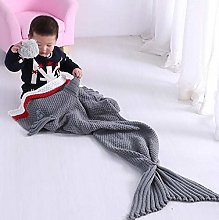 XUE-BAI Shark Tail Blanket Mermaid Double Acrylic