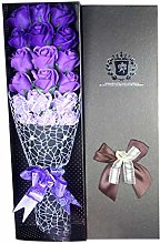xuebinghualoll Soap Flower Bouquet with Packing