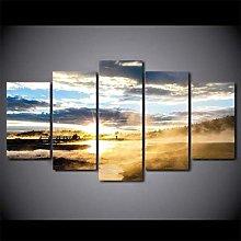 XUEI 5 Piece Print canvas wall art Modern HD