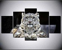 XUEI Animal Leopard Modular Picture Print Painting
