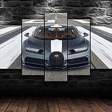 XUEI Bugat Chiron Grey Sports Car Print Painting