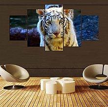 XUEI Lonely White Tiger Animal PUZZLE Print