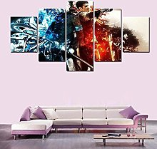 XUEI Print Painting Canvas 5 Pieces Dante And