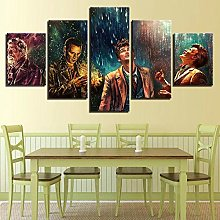 XUEI Print Painting Canvas 5 Pieces Doctor Who