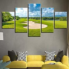 XUEI Print Painting Canvas 5 Pieces Golf Course