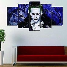 XUEI Print Painting Canvas 5 Pieces Joker Suicide