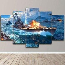 XUEI War Ship Battleship PUZZLE Print Painting