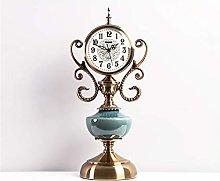 xuejuanshop Desk clock American Fireplace Table