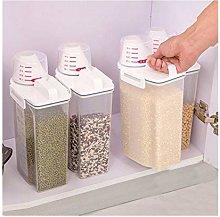 XUENING JWGD 2L Plastic Cereal Dispenser Storage