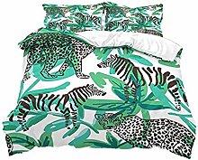 XUESDJMN 3D Printed Bedding Set 3 Pieces Green