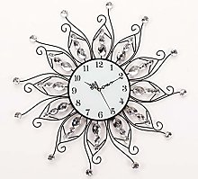 "XUEXIONGSP 24"" Crystal Metal Modern Wall Clock"