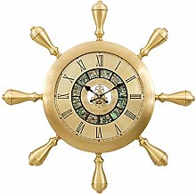 XUEXIONGSP 26In Brass Wall Clock, 3D Decor Silent
