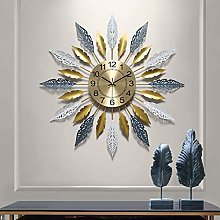 XUEXIONGSP 27In Metal Wall Clock, 3D Sunburst