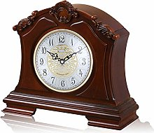 XUEXIONGSP Mantel Clock, Silent Decorative Wood