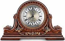 XUEXIONGSP Mantel Clock, Wooden Mantle Clock -