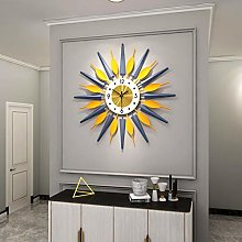 XUEXIONGSP Starburst wall clock, 3D Metal Decor