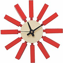 XUEXIONGSP Starburst Wall Clock, 3D Modern Decor