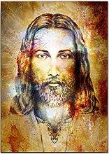 Xufan Colorful Jesus Protrait Oil Painting