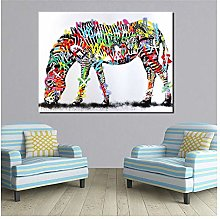 Xufan Colorful Zebra Home Decor Oil Painting Wall
