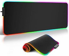XUFAN RGB gaming mouse pad, LED soft extra large