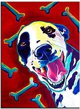 Xufan Watercolor Dog Print Oil Painting Wall