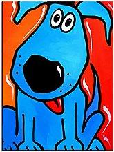 Xufan Watercolor Dog Printing Oil Painting Wall