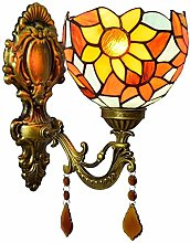 XUHRA 6 Inch Tiffany Style Wall Sconces, Sun