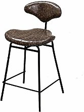 XUHRA European Bar Stool Wrought Iron Back Retro