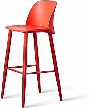 XUHRA Metal Bar Chair Front Desk Bar Bar Stools