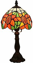 XUHRA Tiffany Table Light Lamp 8 Inch Stained
