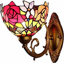 XUHRA Tiffany Wall Lamp Stained Glass Ceiling Wall