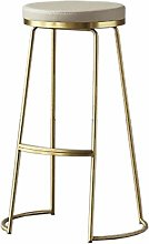XUHRA Wrought Iron Bar Stool Bar Stool Gold High