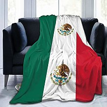 Xukmefat Mexican Flag Soft and Warm Sofa Bed