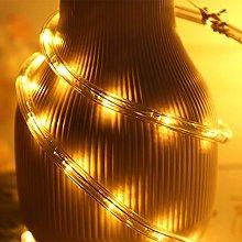 XUNATA 10m Flexible Round LED Strip Yellow, AC