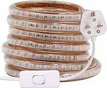 XUNATA 10m LED Strip Light with Switch (80cm Plug