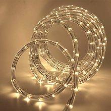 XUNATA 12m Flexible Round LED Strip Warm White, AC