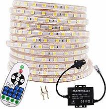XUNATA 14m Waterproof 220V LED Strip Lights Kit,