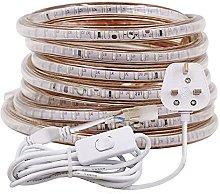 XUNATA 17m LED Strip Light with Switch (3m Plug