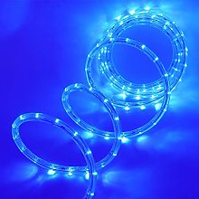 XUNATA 20m Flexible Round LED Strip Blue, AC 220V