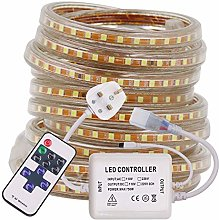 XUNATA 220V Dimmable LED Strips with Remote, 10m