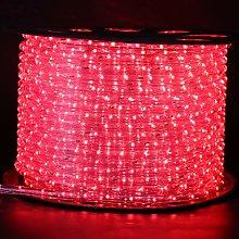 XUNATA 25m Flexible Round LED Strip Red, AC 220V
