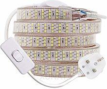 XUNATA 2m LED Strip with Switch, 2835 SMD 276